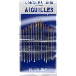 Aiguilles A coudre Longues 5/10